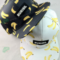 New Casual Unisex Cartoon Fruit Hat Printing Banana Hip Hop Flat Baseball women Cap Sun cap lemon cherry pineapple printing