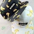 Nueva casual unisex plátano fruta de la historieta de impresión sombrero de hip hop gorra de béisbol plana mujeres de sun del casquillo cap lemon cereza impresión de piña