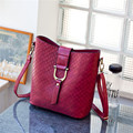 Женщины в ведро мешок крючки мягкий поверхности рельефный наплечная сумка сумка-мессенджер знатных star винтажный стиль