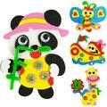 5 Шт. 3D мультфильм Eva наклейки игрушки/Дети Детский DIY ручной EVA наклейки рисования для развивающих игрушек, бесплатная доставка
