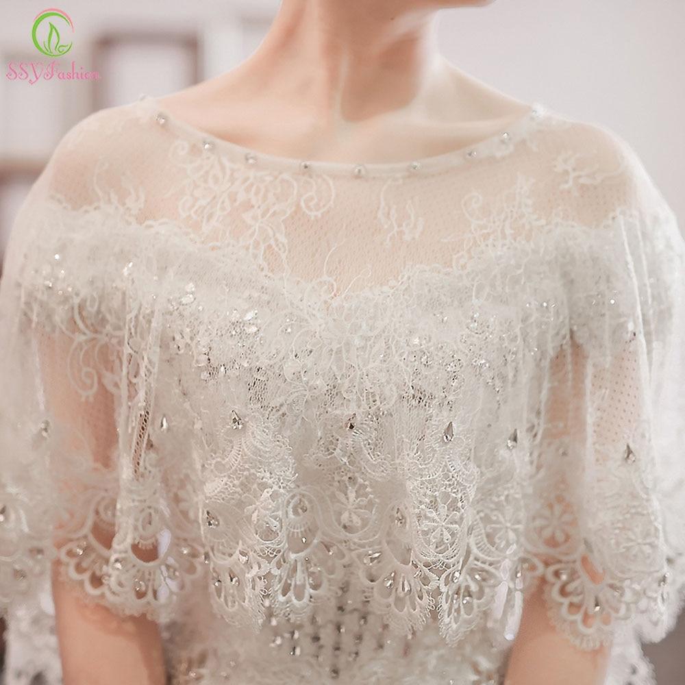 2017 SSYFashion Wedding Shawl White Lace Shawl Luxury ...