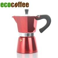 6 tassen Gezählt Klassische Espresso Aluminium Moka Topf Mokka Farbe Beschichtet Haushalts Kaffee Maker|maker|maker coffee  -