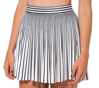 New Spring Women Skirt Vintage Black and White Striped Casual Mini Skirt Ladies Slim Short Elastic Waist Pleated Skirt 2019 korean version of the new skirt female was thin spring rivet high waist elastic waist black pleated skirt s xxl mini skirt