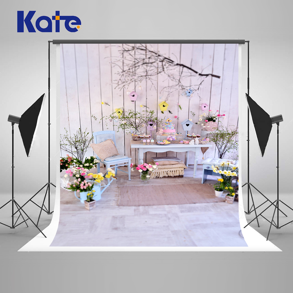 Kate 5x7ft Happy Easter Photography Background For Children Flower New Fabric Microfiber Backdrop For Photo Studio Props 5x7ft white backdrop board photo background photography white studio cloth flower rattan corridor
