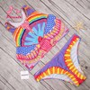 Pacento Tank Top Bikini Colorful Rainbow Print Swimwear Women 2017 Juniors Swimsuit Female Cute Bathing Suit