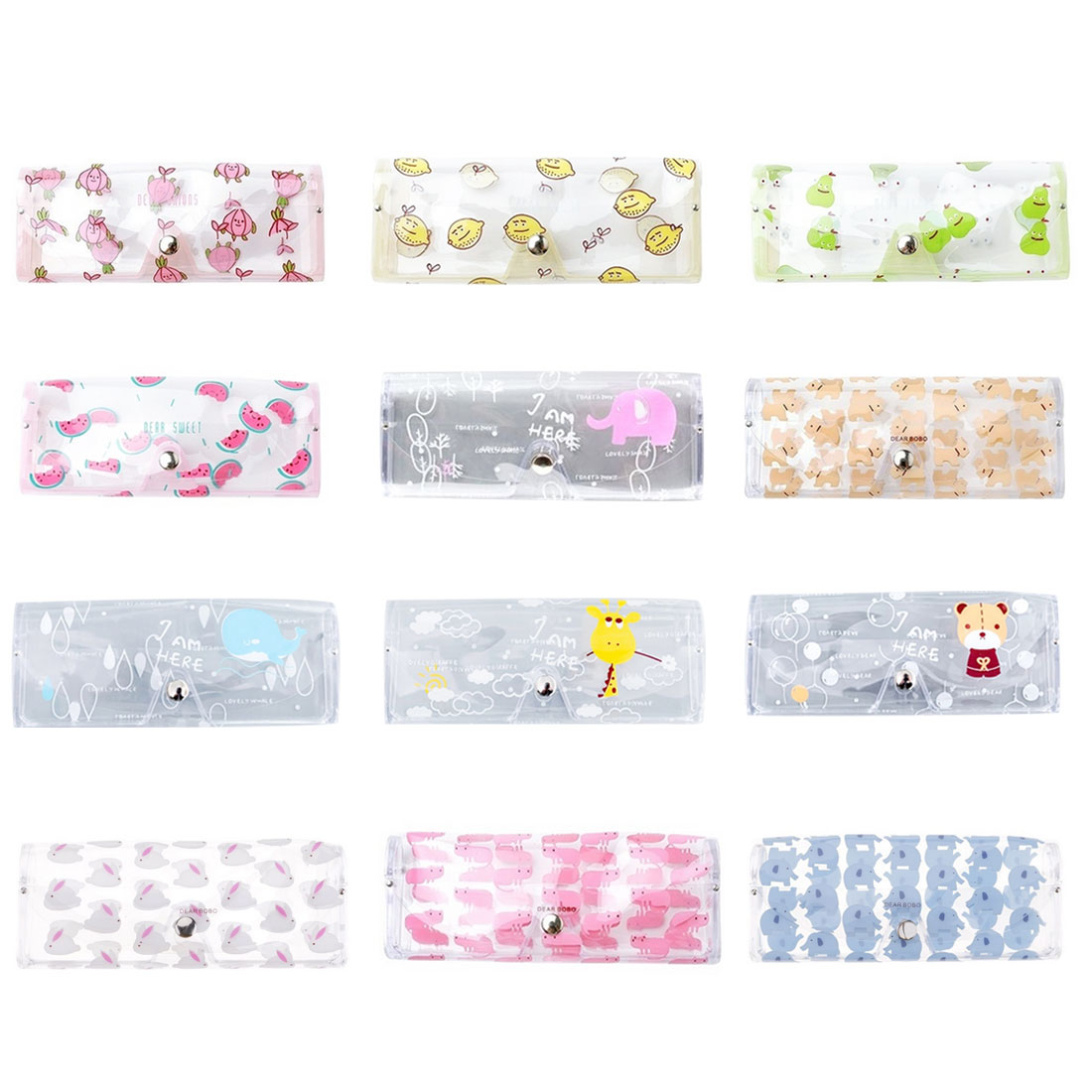Korean Style 1 PC Cute Animal Glasses Soft Case Transparent Glass Spectacle Storage Protection Sunglasses Box For Travel in Eyewear Accessories from Apparel Accessories