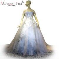 VARBOO_ELSA جديد وصول الأبيض تول الزفاف فستان مثير عارية الذراعين الحبيب الكرة بثوب الزفاف فستان الزفاف ثوب 2018 السعودية