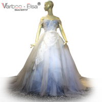 VARBOO ELSA New Arrival White Tulle Wedding Dress Sexy Backless Sweetheart Bridal Gown 2017 Saudi Arabia