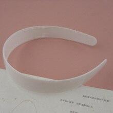 """10 шт. 2,5 см 1,"""" Белые Простые пластиковые повязки для волос с двумя рядами зубов DIY женские аксессуары для волос Топ эластичный"""