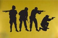 Виниловые наклейки на стены военные спецназ команда Армия Мужчины