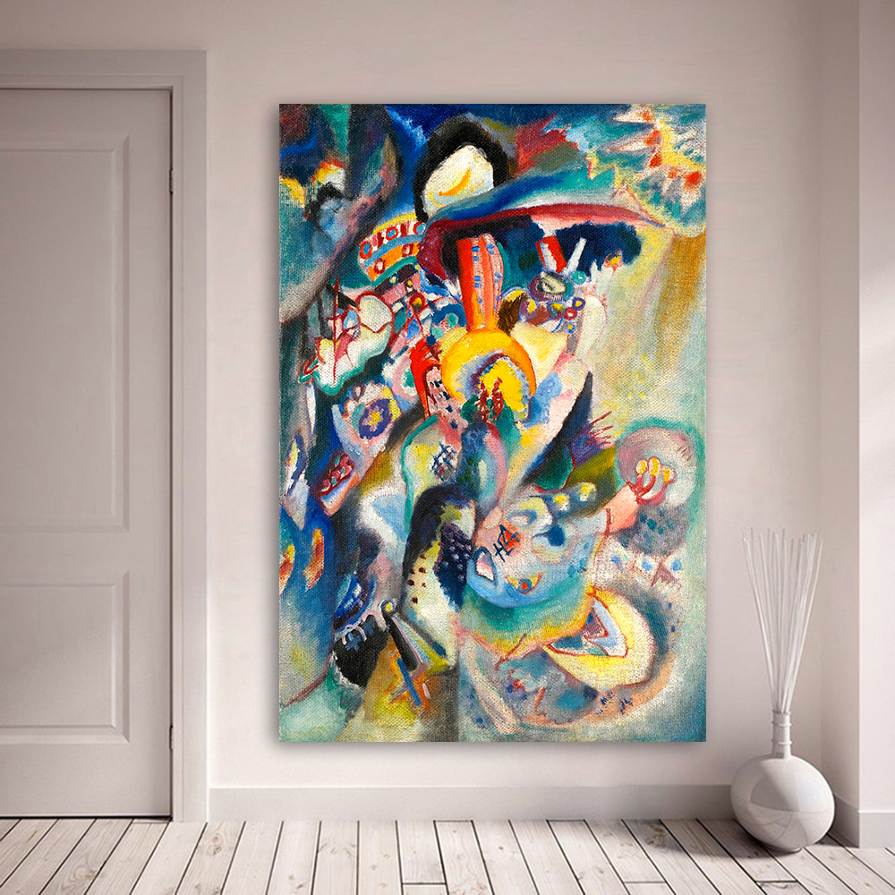 Us 399 0 Wassily Kandinsky Abstract Oil Painting Canvas Painting Wall Art Pictures For Living Room Moscow Ii Home Decor In Painting Calligraphy