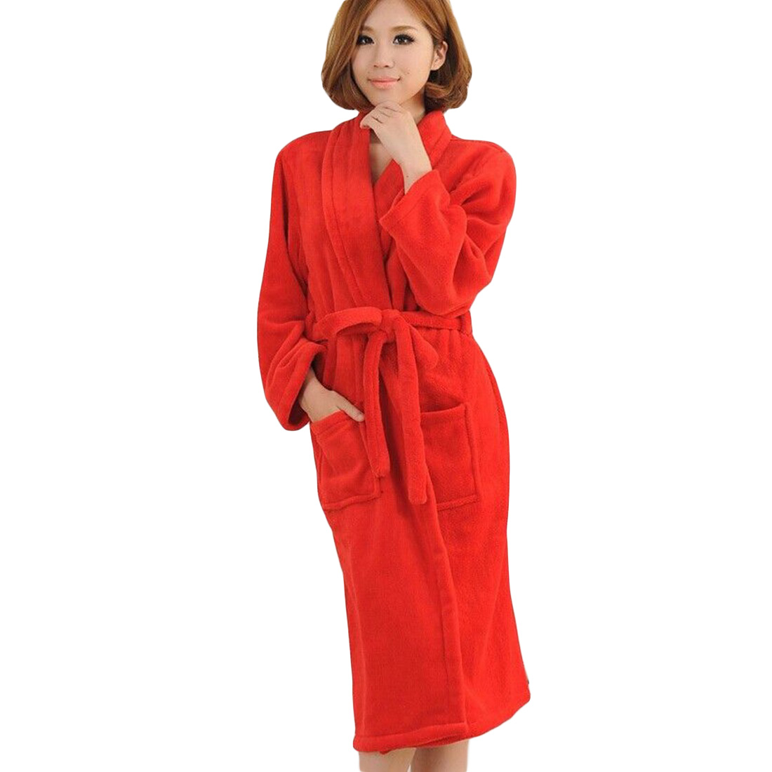 promotion moderate cost compare price US $22.18 15% OFF|Autumn Unisex Fashion Sleepwear Winter Lovers Night robe  Cotton Housecoat Womens Or Men's Coral Fleece Red Gray Bathrobe-in Robes ...