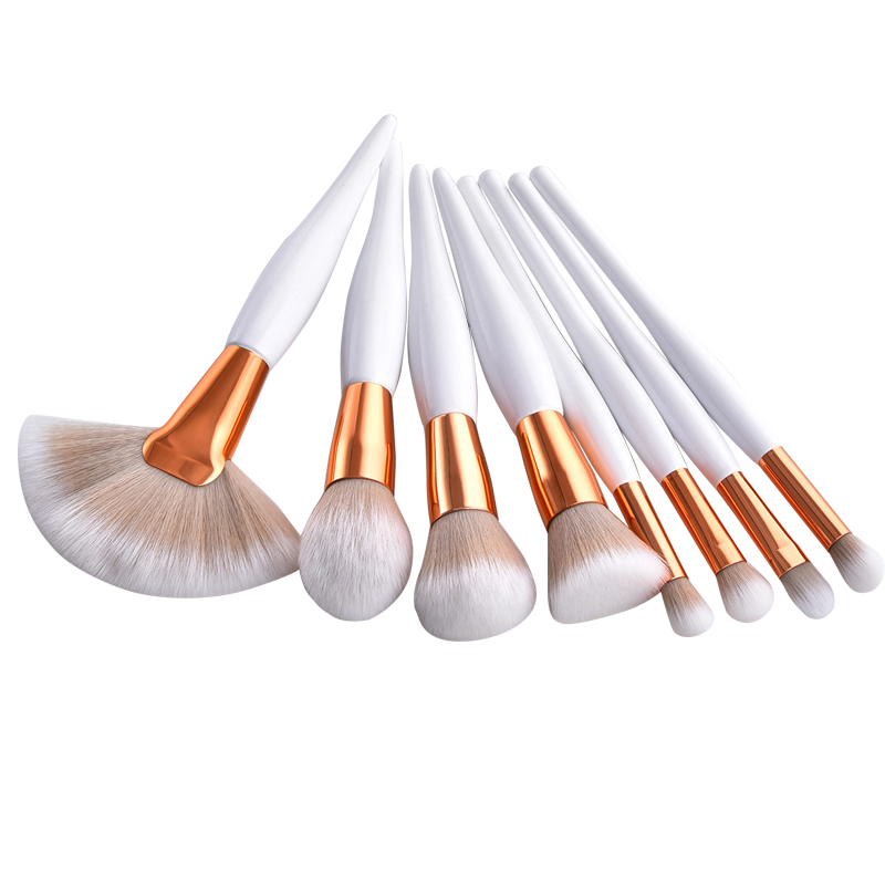 JIGONG Professional Makeup Brushes Kit Powder Fan Flat Brush Set For Women Eyeshadow Facial Make Up Beauty Tools