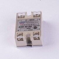 SSR 40DA Small Solid State Relay 24V 12V Control 220V DC Control AC 40A