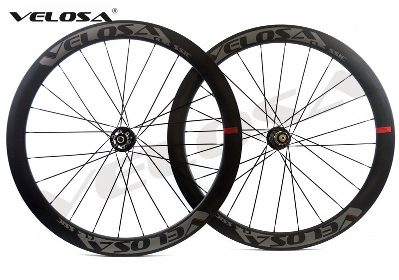 Velosa Disc 50 Road Disc Brake carbon wheelset 50mm clincher tubular 700C road bike wheel cyclocross