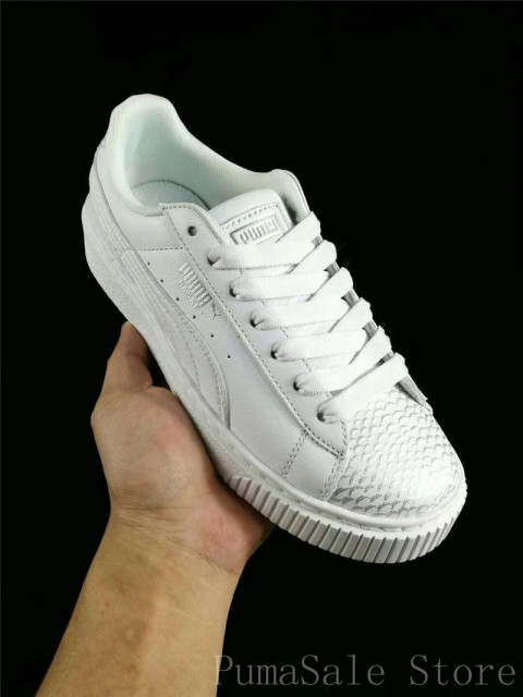 2ab7ccf05d9a PUMA Women s Basket Platform Ocean Wn Sneaker 366442-02 Fish Scales White  Color Puma Shoes Women Size 35.5-39