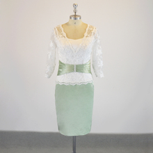 Sleeve Special Occasion Vintage Lace Mother Of The Bride Dresses Knee Length