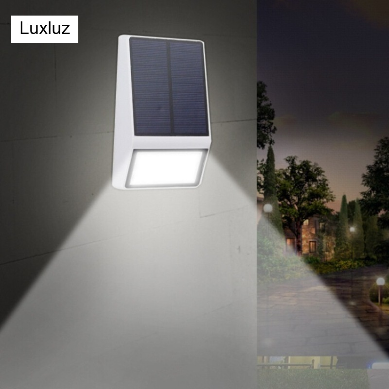 New 15 Led Solar Porch Lamp Outdoor Waterproof Garden Path