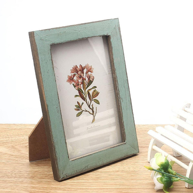Retro Picture Frames Wooden Photo Frame Table Hanging Wall Mounted Decor Wedding Holder Creative Gifts