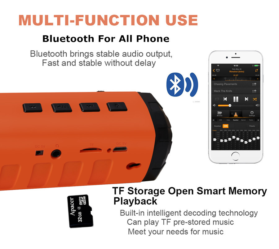 AIDISITE Solar Bluetooth високоговорител - Преносимо аудио и видео - Снимка 4