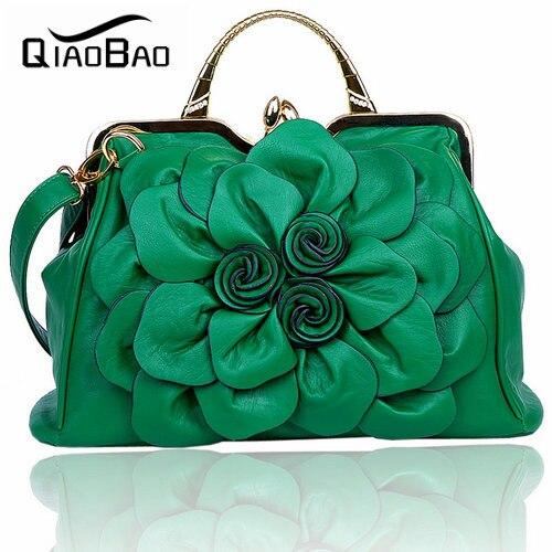ФОТО QIAO BAO 2017 Women's handbag rose big flower bag fashionable casual all-match handbag messenger bag