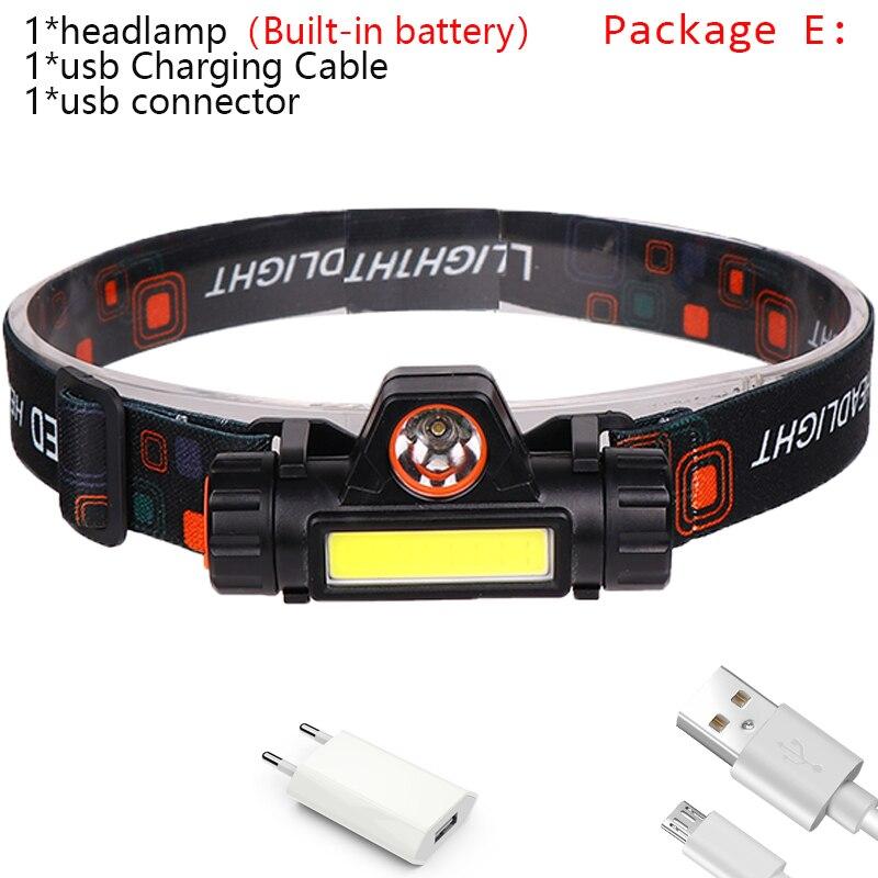 Mini DEL Lampe de poche Outdoor COB Rechargeable USB Torche Queue Aimant Travail Lumière