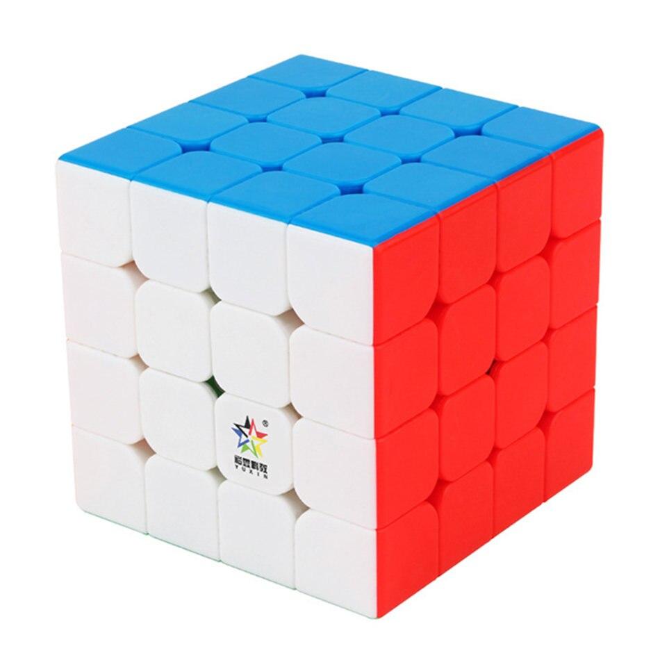 Yuxin 4x4 Yuxin Cubo Magnético Pouco de Magia 4x4x4 4 Camadas Cubo Mágico Velocidade Cubo profissional Presente do Enigma Brinquedos Para Crianças