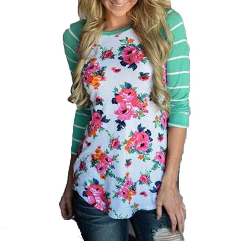 full sleeve tshirts cotton women striped floral patchwork raglan long sleeve tshirt women tee. Black Bedroom Furniture Sets. Home Design Ideas