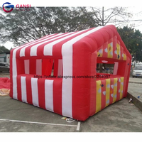 Festival decoration inflatable food stand stall removable booth tent inflatable advertising stall for party