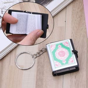 Image 2 - Mini Ark Quran Book Keychain Real Paper Can Read Arabic The Koran Keychain Muslim Jewelry Christmas Decoration Children Gifts