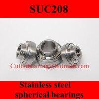 Freeshipping Stainless Steel Spherical Bearings SUC208 UC208