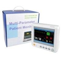 8 Inch Human / Veterinary VET Multiparameter Patient Monitor parameter NIBP,Spo2, PR,ECG,RESP,TEMP