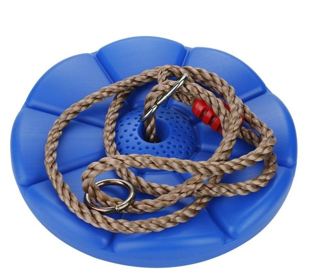 ESTINK Children Swing Disc Toy Seat Kids Swing Round Rope Swings Outdoor Playground Hanging Garden Play Entertainment Activity