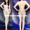 Free DHL Jumpsuits Rompers Women Outfit Celebrate Party Rhinestone Bodysuit Women Nightclub Costume Stage Party Singer Wear
