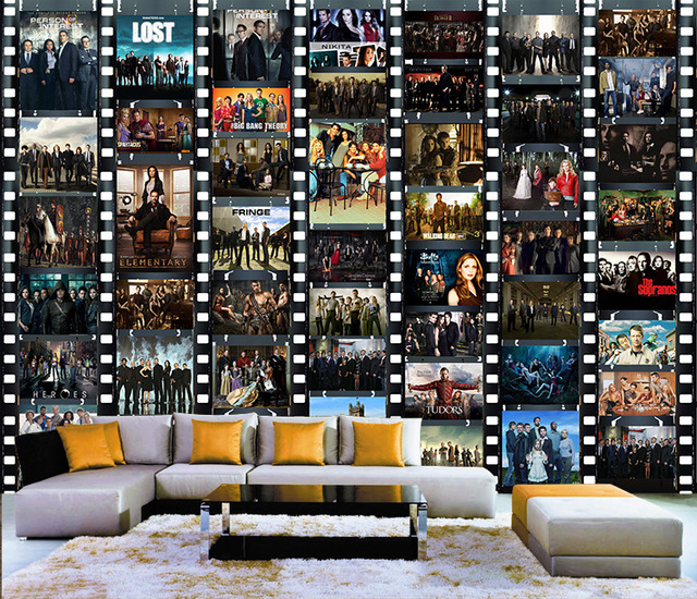 Free Shipping Custom Large Movie Poster Collage Style Mural Tv