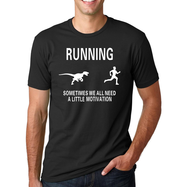 60f0f6e4 ᗔŚmieszne dinozaur aby zmotywować biegaczy motywacji T-Shirt 2019 ...
