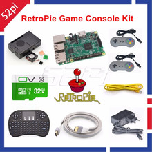 Cheap price 52Pi 2017 Raspberry Pi 3 Model B 32GB RetroPie Game Console Kit with 2pcs SNES Gamepads Controllers