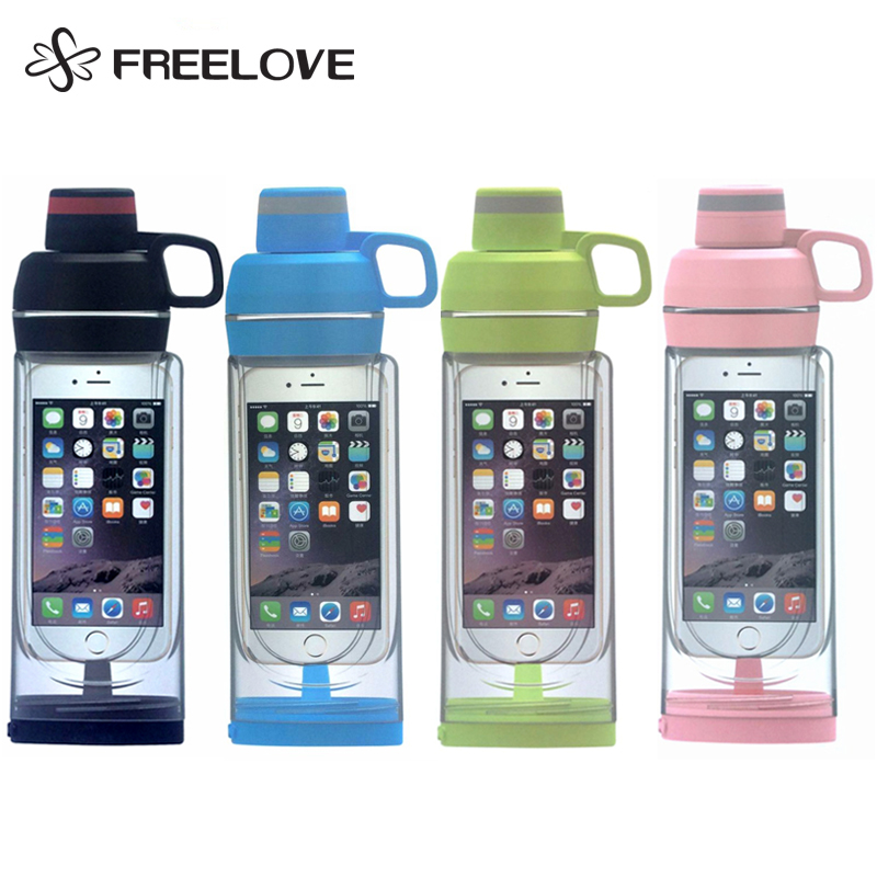 iphone 6/6s/7/7s/6 Plus/7 Plus Smart Sport Water Bottle .4L iBottle Waterproof Storage Organizer Call Music Available Swim Yoga
