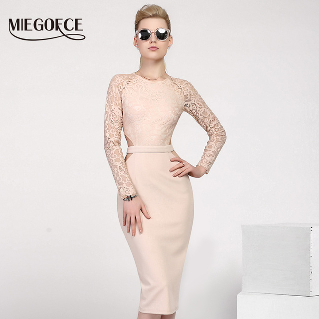 New Design MIEGOFCE 2017 Summer Women Dresses to The Knee Fashion Spring Female Casual Office Pencil Dresses Fitted Hot Selling