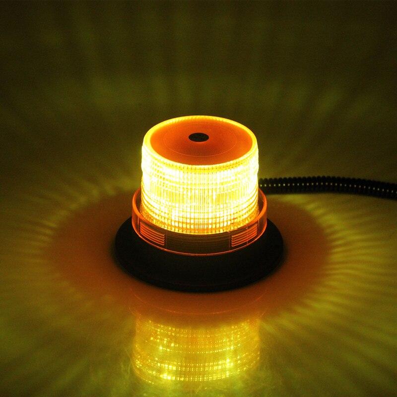 DC12V Amber Vehicle LED Police Warning light Strobe Flashing Lighting car Emergency Lights Beacon Lamp with Magnetic Mounted