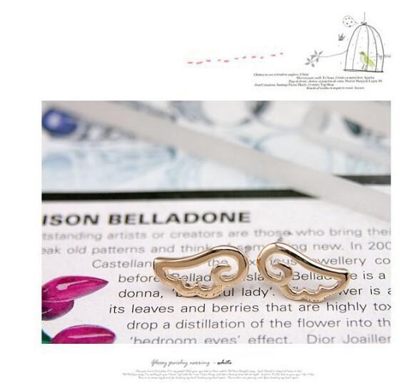 Simple & Cheap Angel Wing Stud Earrings