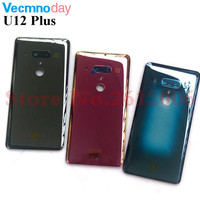 Original 3D Glass Battery Cover For HTC U12 Plus Rear Housing Back Case With Camera Lens For U12 Plus Replacement Part