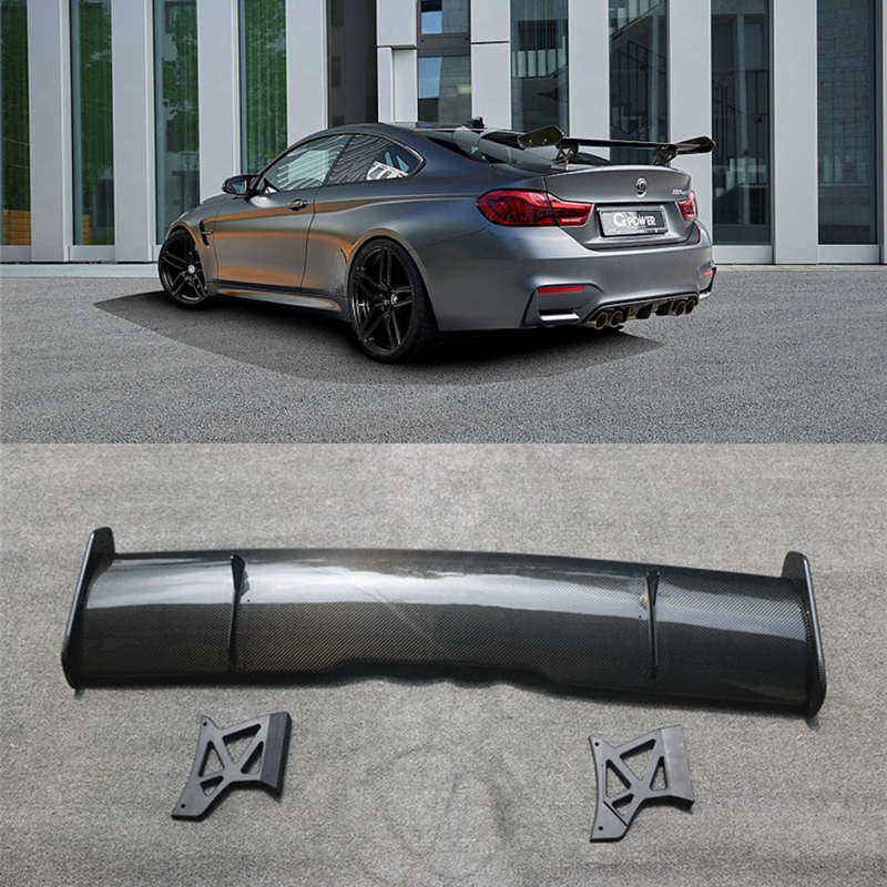 MOONTFORD Car Styling Exterior Carbon Fiber Modified RearSpoiler Tail Trunk Wing GTS Spoiler Decoration Fit For BMW M4 2015-2019