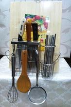 Stainless steel multifunctional tool holder knife block chopping block rack chopsticks tube cage drain rack shelf products