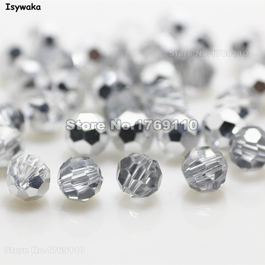 Isywaka Non-hyaline White Ab Color 98pcs 4mm Round Austria Crystal Bead Ball Glass Bead Loose Spacer Bead For Diy Jewelry Making Beads & Jewelry Making Jewelry & Accessories