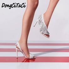 ad4257131 DongCiTaCi zapatos de verano Zapatos de las mujeres de moda Sexy Sandalias  de tacón alto,
