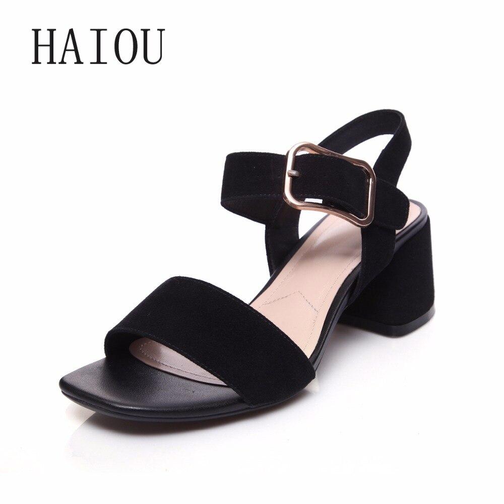 ФОТО 2017 Women Ankle Strap High Heel Sandals Platform Solid Ladies Square Heeled Sandal Sexy Women Shoes Fashion Open Toe Sweet Shoe