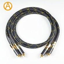 Anaudiophile hi-fi rca cabo de áudio siltec sq88 g5 rca interconexão cabo de áudio para amplificador de pré-amplificador dac rca cabo