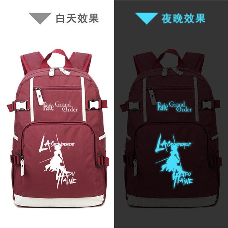 2018 Japanese Fate/Grand Order Fujimaru Ritsuka Anime Printing Backpack Canvas Laptop Backpack School Bags for Teenage Girls2018 Japanese Fate/Grand Order Fujimaru Ritsuka Anime Printing Backpack Canvas Laptop Backpack School Bags for Teenage Girls