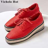 Vechelo Hot bò da thời trang cá quy mô mô hình rơm trang trí phụ nữ chân vuông bơm chân vuông hẹn hò giày bên l25